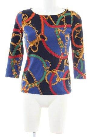 Lauren by Ralph Lauren Print-Shirt schwarz-blau abstraktes Muster Elegant