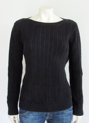Lauren by Ralph Lauren Cable Sweater black cotton