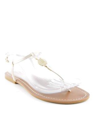 Lauren by Ralph Lauren Strapped High-Heeled Sandals brown-cream casual look