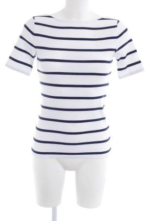 Lauren by Ralph Lauren Gestreept shirt wit-donkerblauw gestreept patroon