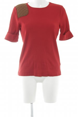 Lauren by Ralph Lauren Ribbed Shirt red-brown street-fashion look