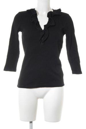 Lauren by Ralph Lauren Ribbed Shirt black casual look