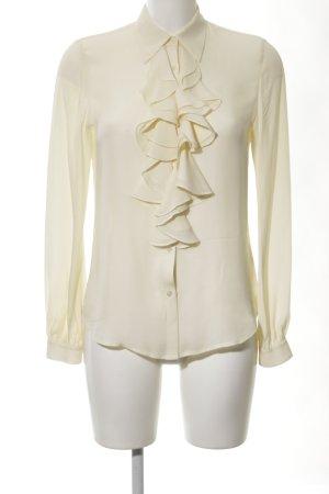 Lauren by Ralph Lauren Camicetta con arricciature crema elegante