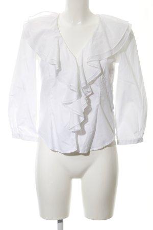 Lauren by Ralph Lauren Blouse à volants blanc élégant