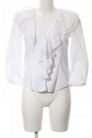 Lauren by Ralph Lauren Camicetta con arricciature bianco elegante