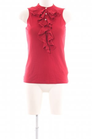 Lauren by Ralph Lauren Frill Top red business style