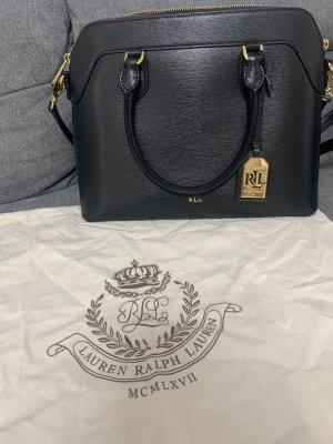 Lauren by Ralph Lauren Carry Bag black-gold-colored leather