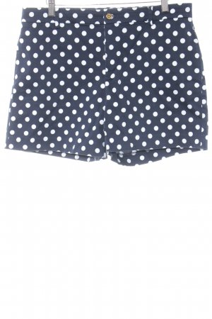 Lauren by Ralph Lauren Shorts dunkelblau-weiß Punktemuster Casual-Look
