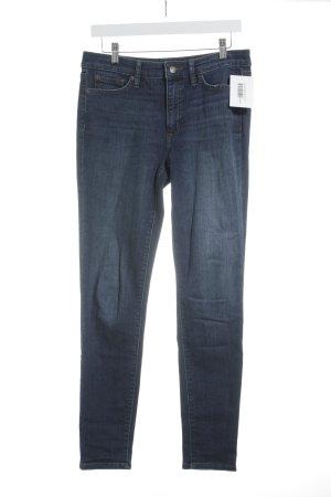Lauren by Ralph Lauren Jeans skinny bleu foncé-blanc cassé style délavé