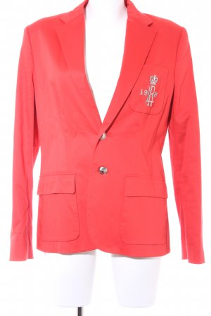 Lauren by Ralph Lauren Smoking-Blazer rot-silberfarben Business-Look