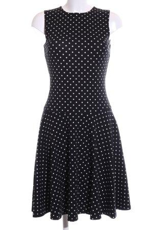Lauren by Ralph Lauren Stretchkleid schwarz-weiß Punktemuster Business-Look