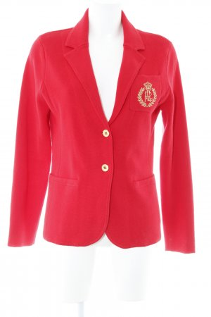 Lauren by Ralph Lauren Strickblazer rot-goldfarben Brit-Look