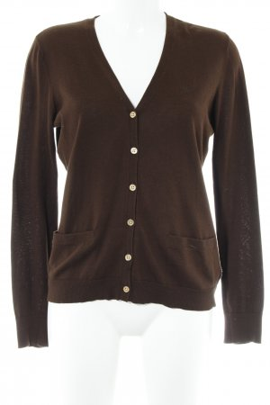 Lauren by Ralph Lauren Strickjacke dunkelbraun Casual-Look