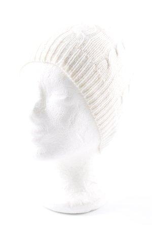 Lauren by Ralph Lauren Cappello a maglia bianco sporco stile casual