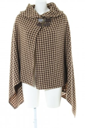 Lauren by Ralph Lauren Knitted Poncho cream-bronze-colored allover print