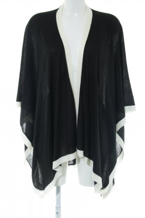 Lauren by Ralph Lauren Knitted Poncho black-white casual look