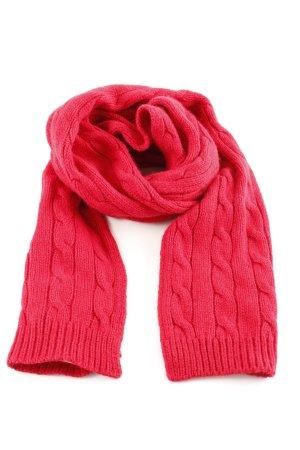 Lauren by Ralph Lauren Gebreide sjaal rood kabel steek casual uitstraling