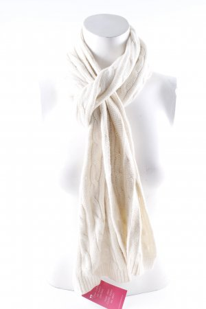 Lauren by Ralph Lauren Knitted Scarf natural white casual look