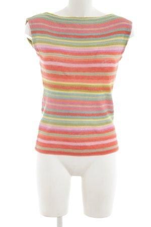 Lauren by Ralph Lauren Top lavorato a maglia motivo a righe stile casual