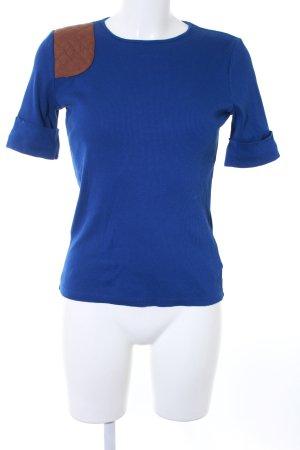 Lauren by Ralph Lauren T-Shirt dunkelblau-braun Casual-Look