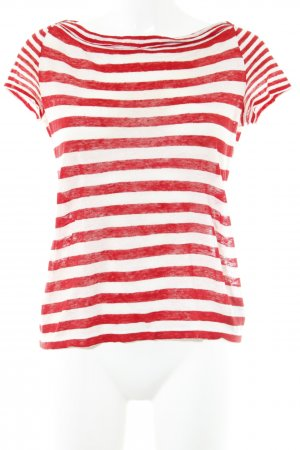 Lauren by Ralph Lauren T-Shirt bright red-cream striped pattern casual look