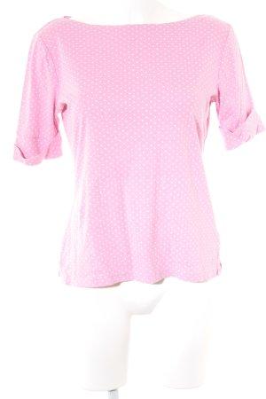 Lauren by Ralph Lauren T-Shirt rosa-weiß Punktemuster Casual-Look