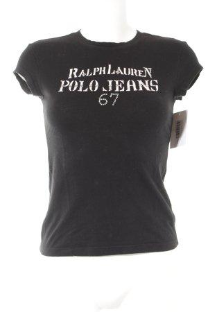Lauren by Ralph Lauren T-Shirt schwarz-roségoldfarben Schriftzug gedruckt