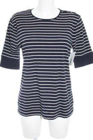 Lauren by Ralph Lauren T-Shirt weiß-dunkelblau Marine-Look