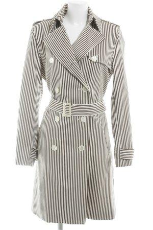 Lauren by Ralph Lauren Trenchcoat braun-weiß Streifenmuster Casual-Look
