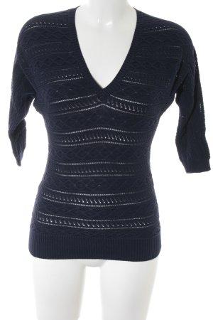Lauren by Ralph Lauren V-Ausschnitt-Pullover dunkelblau Casual-Look