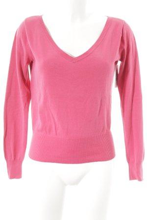Lauren by Ralph Lauren V-Ausschnitt-Pullover magenta Casual-Look