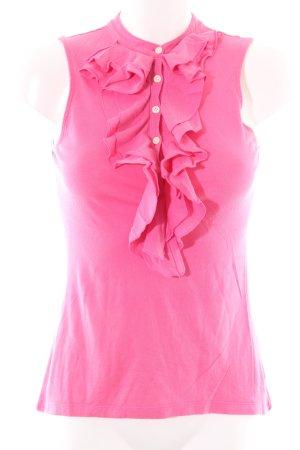 Lauren by Ralph Lauren Flounce Top pink business style
