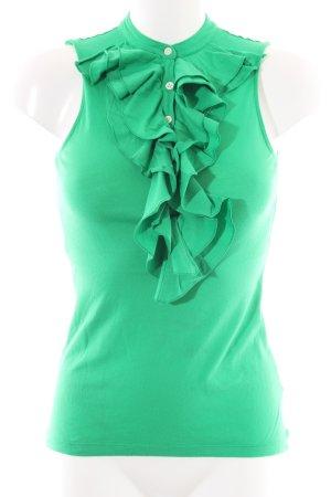 Lauren by Ralph Lauren Flounce Top green casual look