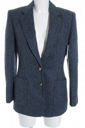 Lauren by Ralph Lauren Wool Blazer slate-gray-dark blue zigzag pattern