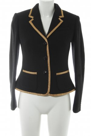 Lauren by Ralph Lauren Wool Blazer black-gold-colored country style