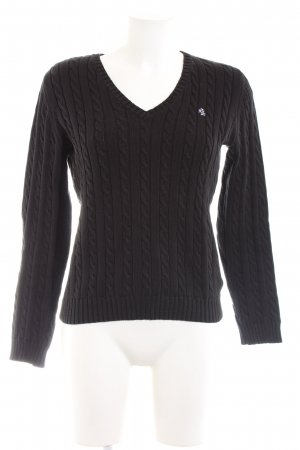 Lauren by Ralph Lauren Cable Sweater black cable stitch business style