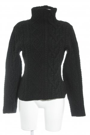 Lauren by Ralph Lauren Cable Sweater dark grey cable stitch college style