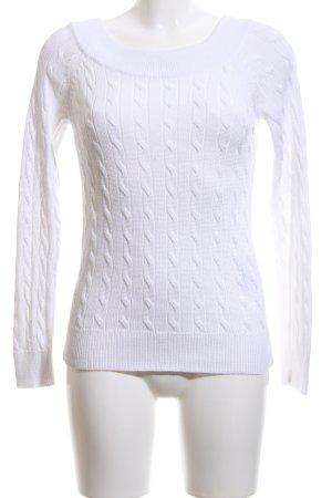 Lauren by Ralph Lauren Pull torsadé blanc torsades style décontracté