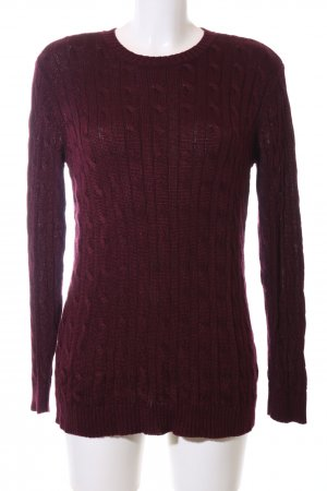 Lauren by Ralph Lauren Cable Sweater red cable stitch casual look