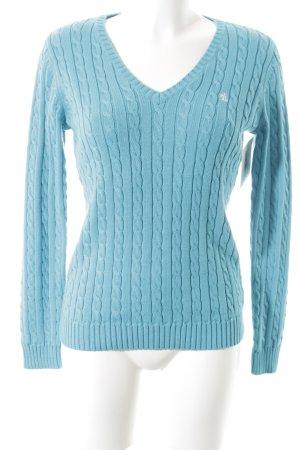Lauren by Ralph Lauren Jersey trenzado azul claro punto trenzado