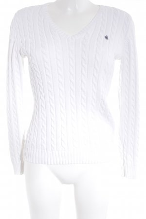 Lauren by Ralph Lauren Cable Sweater white cable stitch casual look