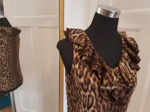 Lauren goes Leo: Trend-Top: Animalprint Gr. M, mit Rüschenkragen, Lauren by Ralph Lauren