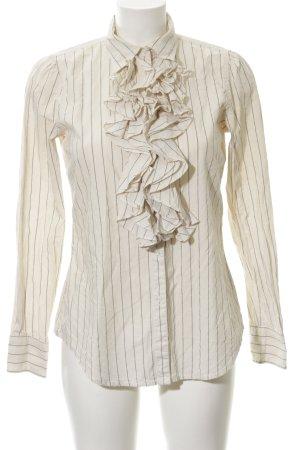 Lauren Jeans Co. Ralph Lauren Hemd-Bluse wollweiß-schwarz Streifenmuster