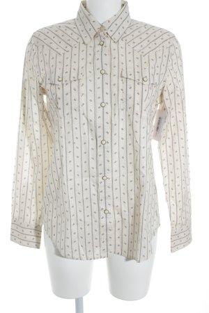 Lauren Jeans Co. Ralph Lauren Shirt met lange mouwen wolwit-donkerblauw