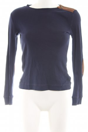 Lauren Jeans Co. Ralph Lauren Longsleeve blau-braun Casual-Look