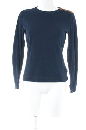 Lauren Jeans Co. Ralph Lauren Longsleeve blau-nude Casual-Look