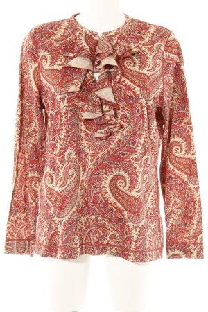 Lauren Jeans Co. Ralph Lauren Longsleeve rot-beige Ornamentenmuster Casual-Look