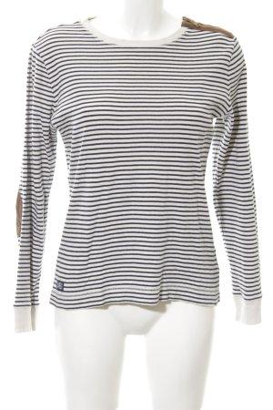 Lauren Jeans Co. Ralph Lauren Longsleeve weiß-schwarz Streifenmuster