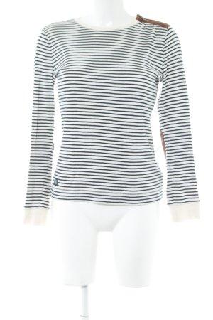 Lauren Jeans Co. Ralph Lauren Camisa de rayas blanco-negro estampado a rayas