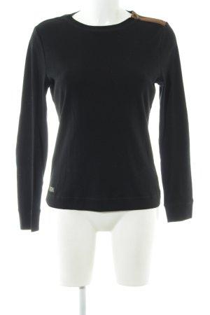Lauren Jeans Co. Ralph Lauren Sweatshirt schwarz-hellbraun Casual-Look